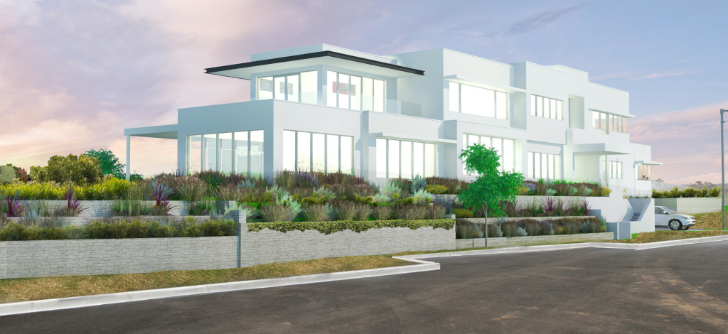 Architectural artist visualization of a new house in Wollongong, NSW